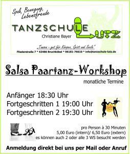 Salsa Workshop (monatlich) @ Tanzschule Lutz Bruchköbel