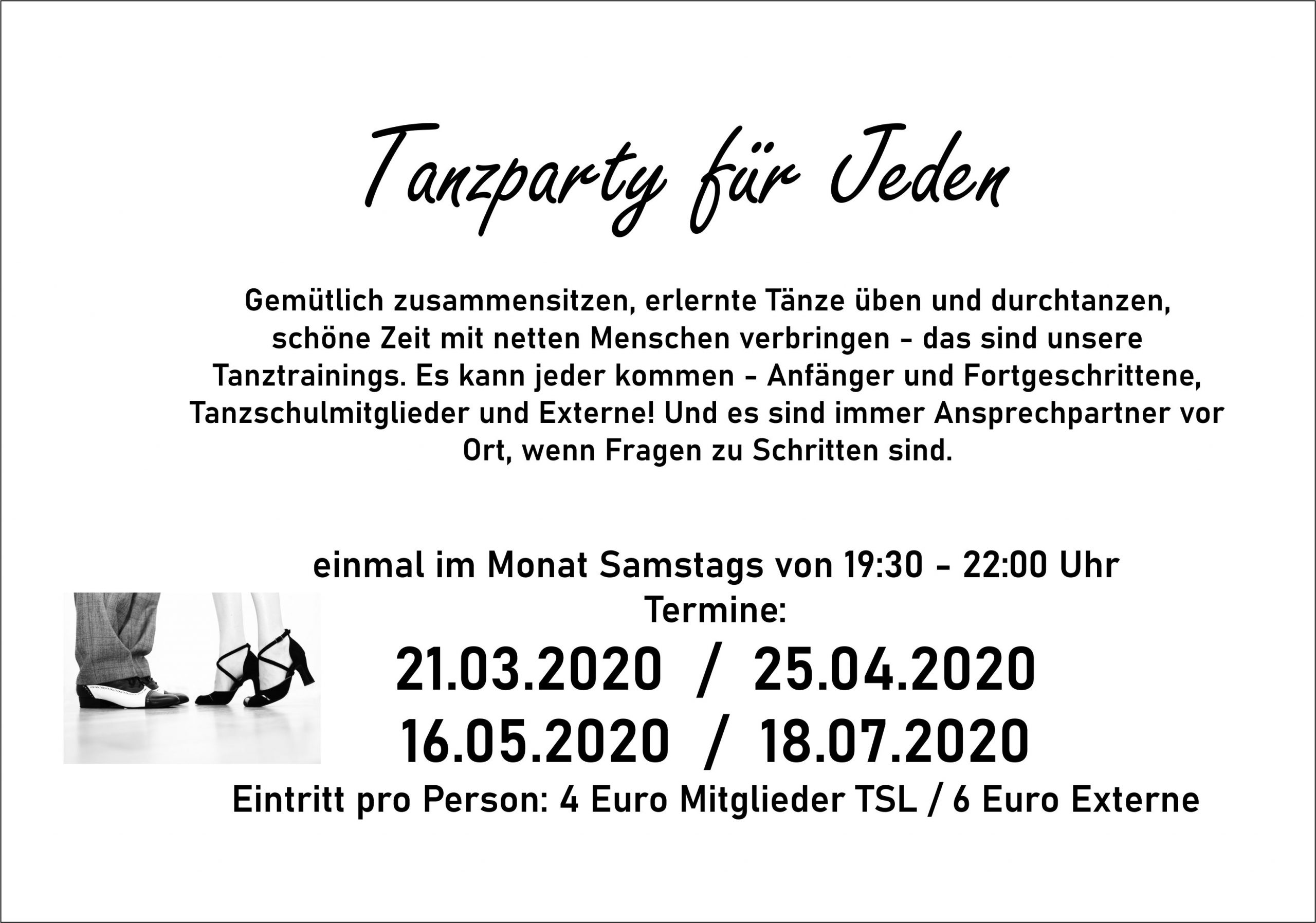 Tanzparty Flyer 2020